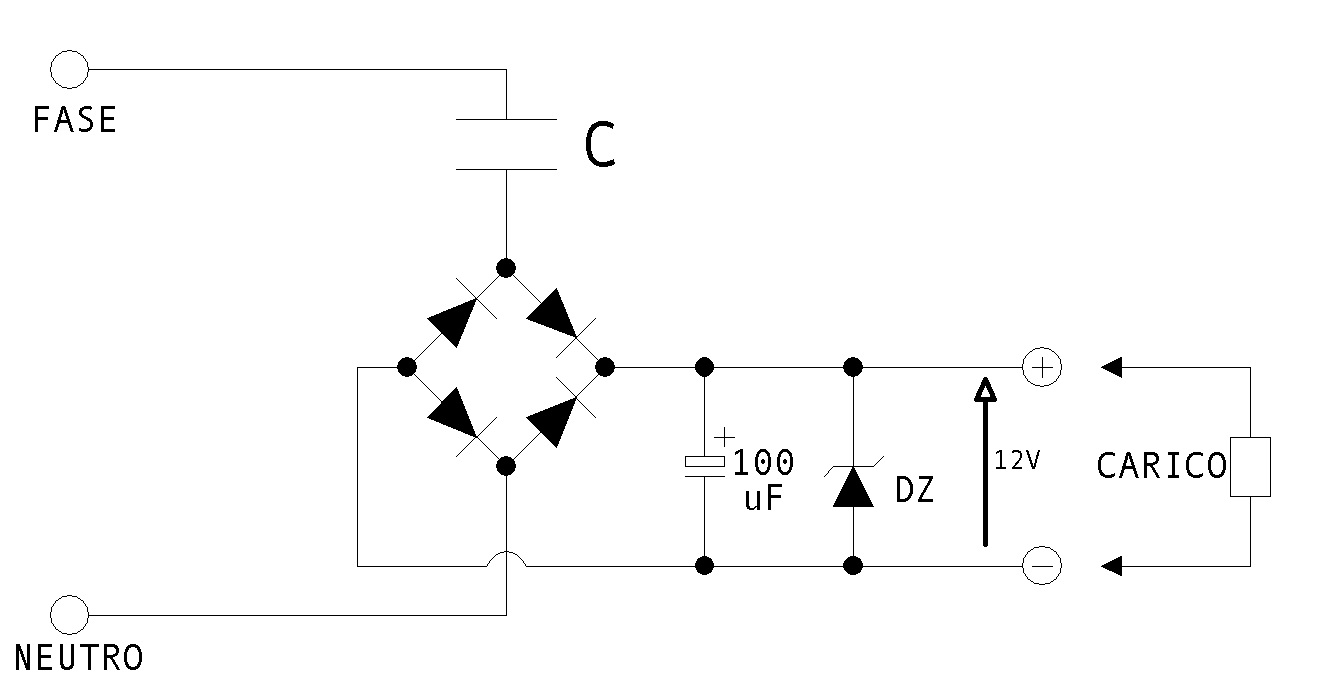 Schema Elettrico Riduttore Di Tensione Da 24v A 12v : Come costruire una puntatrice elettrica