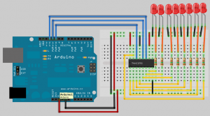 arduino_74HC595_collegamenti