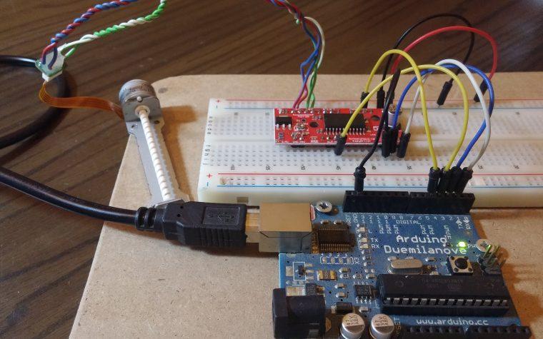 EasyDriver (A3967) collegare un motore passo passo.