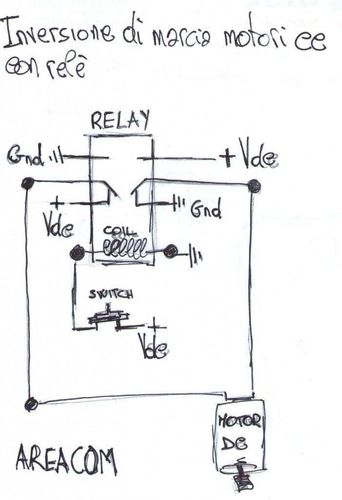 inversione_di_marcia_motore_dc_con_relay-701x1024  Double Pole Relay Wiring on